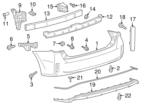 BODY/BUMPER & COMPONENTS - REAR for 2014 Toyota Prius V #1