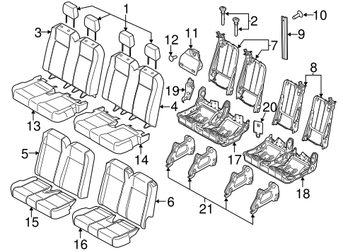Body/Rear Seat Components for 2015 Ford Transit-150 #2