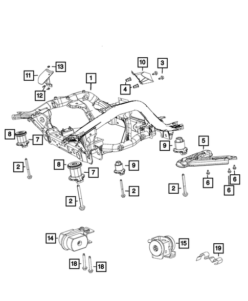 Front Suspension, Strut and Cradle for 2018 Jeep Grand Cherokee #0