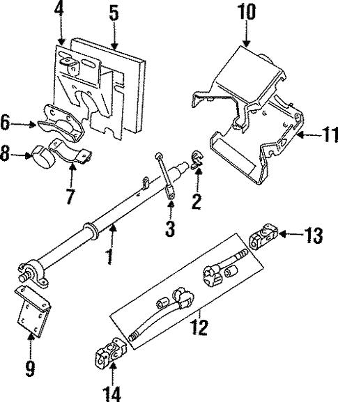Steering Column Assembly For 1997 Land Rover Defender 90