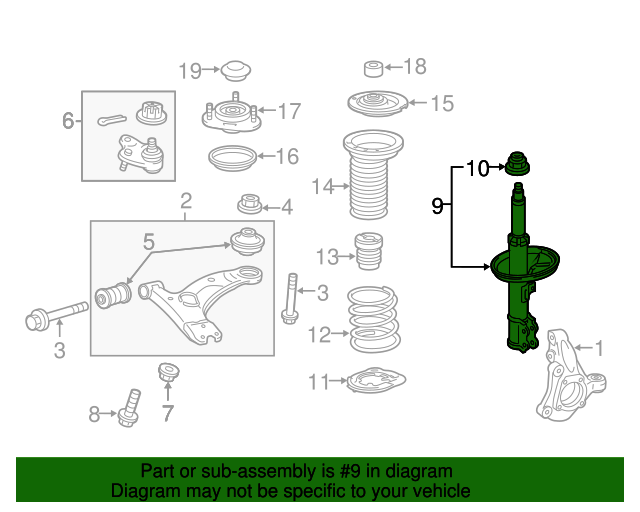 Toyota 48510-80663 Shock Absorber Assembly