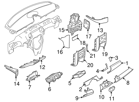Instrument Panel Components For 2009 Mini Cooper