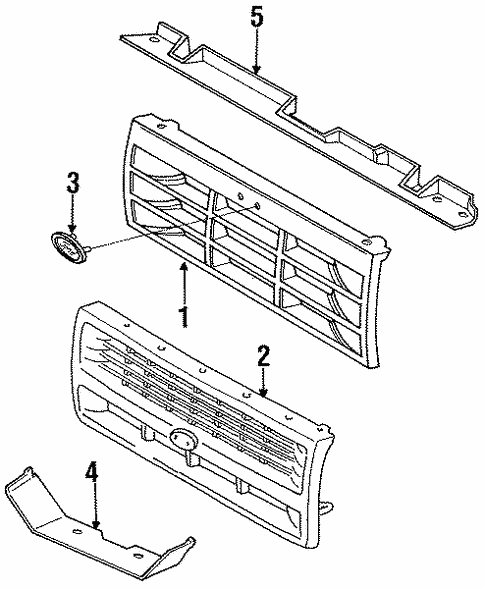 Grille Components For 1994 Ford Explorer