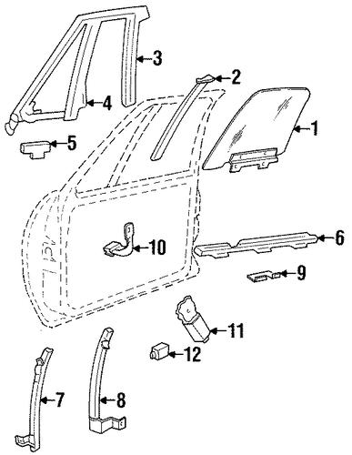 oem 1998 oldsmobile 88 door parts