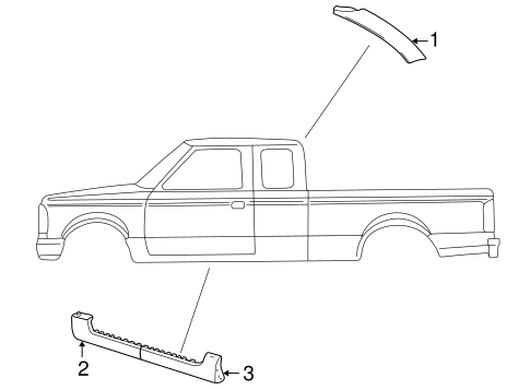 Body/Exterior Trim - Cab for 2005 Ford Explorer Sport Trac #1