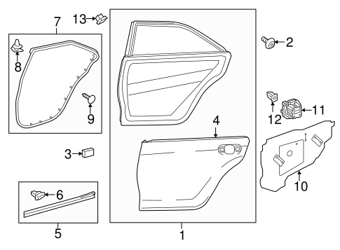 BODY/DOOR & COMPONENTS for 2015 Toyota Camry #1