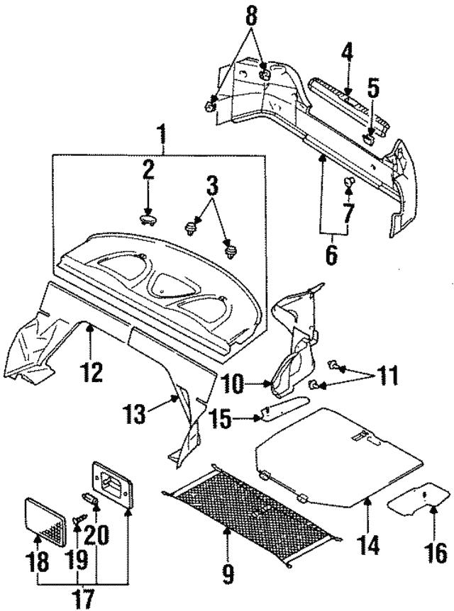 1995 2000 Dodge Avenger Plate Mb938285
