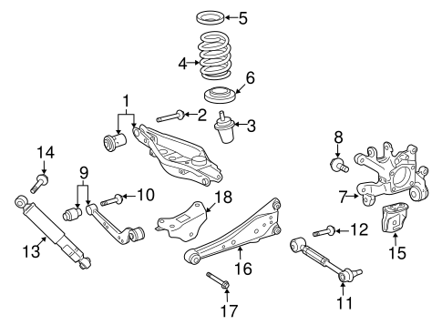 REAR SUSPENSION/REAR SUSPENSION for 2014 Toyota RAV4 #2