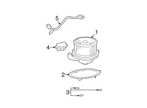 oem 2004 pontiac vibe blower motor  u0026 fan parts