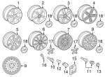 Wheel, Alloy - Audi (4H0-601-025-AL)