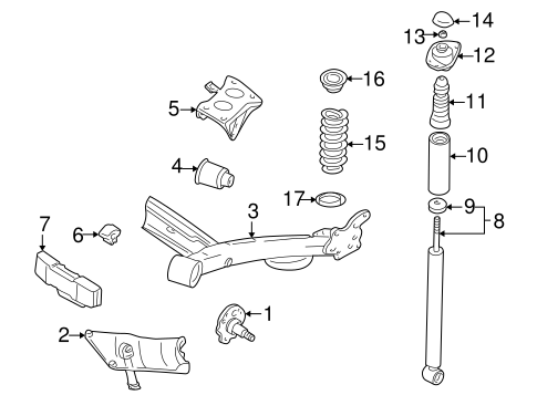 Rear Suspension for 2000 Volkswagen Golf #0
