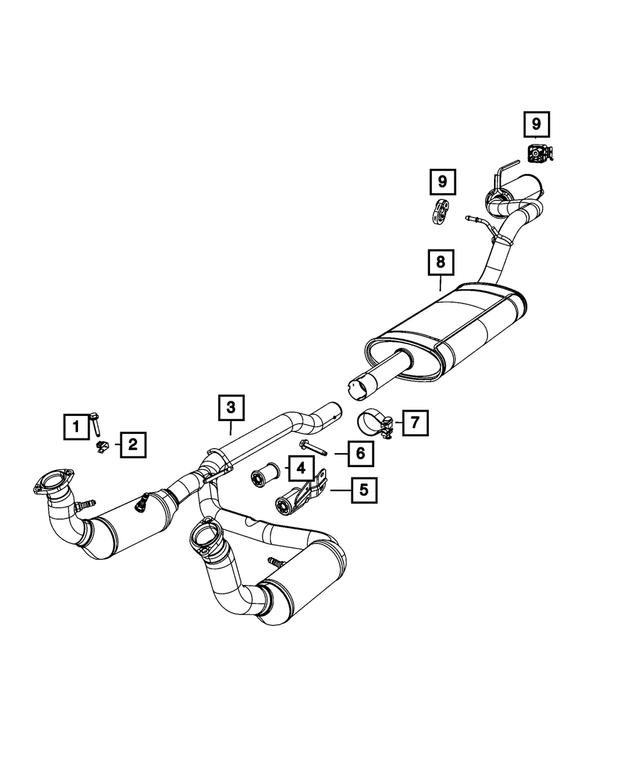Genuine Chrysler 52109806AH Exhaust Muffler