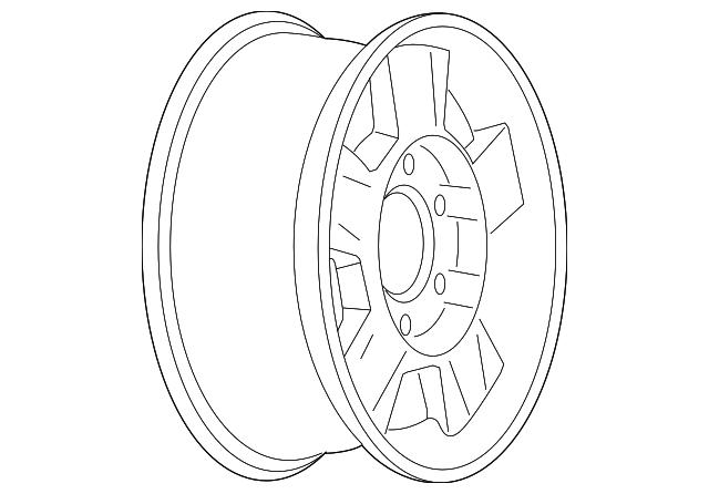 2004 2008 Gm Wheel Alloy 9593978