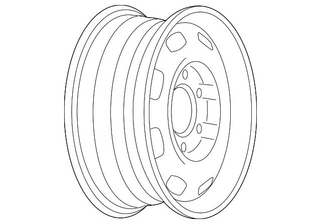 Gm Wheel Steel 9597855 on 2012 Cadillac Verano