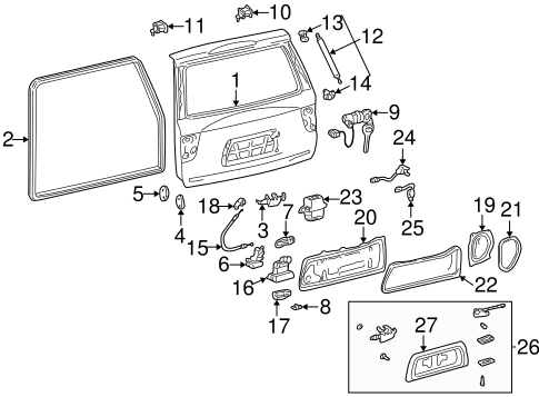 BODY/GATE & HARDWARE for 2002 Toyota Sequoia #1