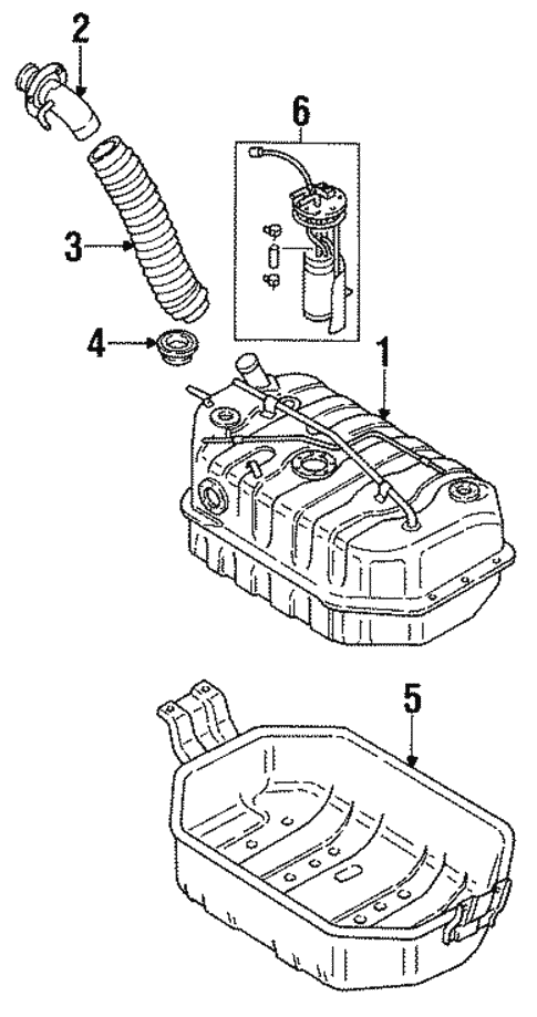 Fuel System Components For 1995 Isuzu Rodeo
