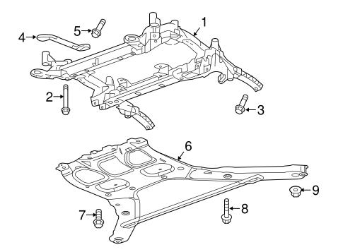 GM OEM Front Suspension-Engine Cradle Mount Bolt 11547921