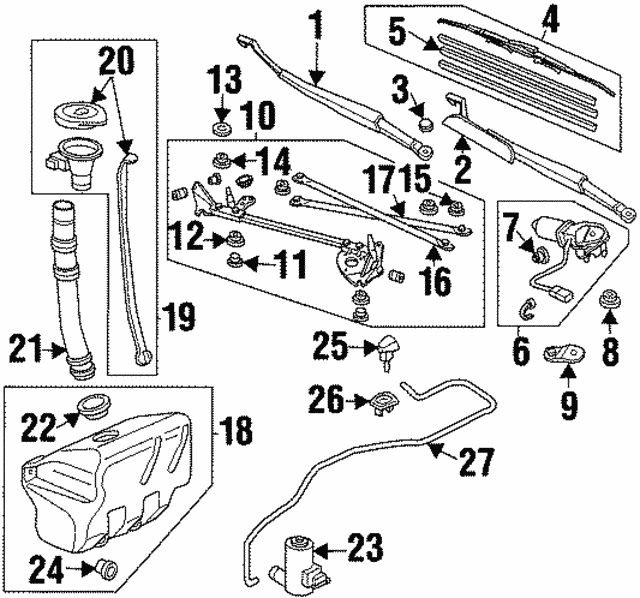 acura grommet wiper motor black 91620 sm4 003 bakersfieldacuraparts rh parts bakersfieldacura com 1997 Acura TL 2002 Acura TL