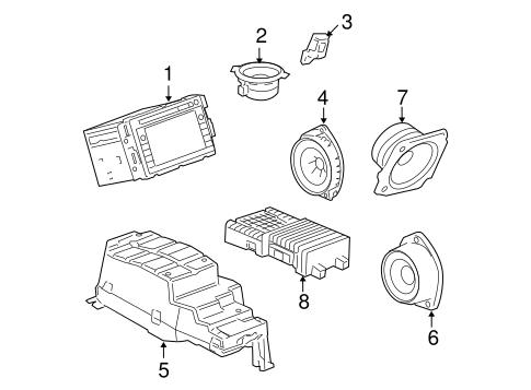 oem 2007 chevrolet tahoe sound system parts. Black Bedroom Furniture Sets. Home Design Ideas