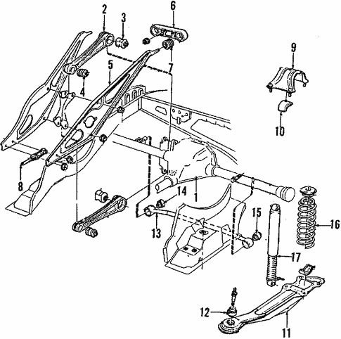 Rear Suspension For 1994 Volvo 960