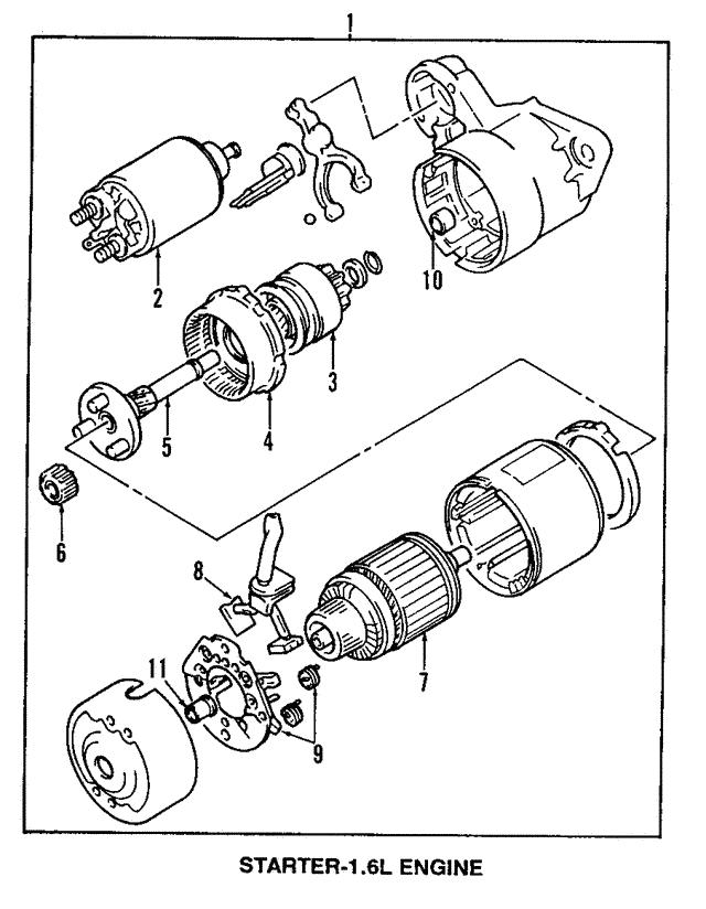 suzuki sidekick starter diagram