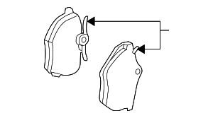 Genuine Volvo Rear Brake Pads - Volvo (31262468)