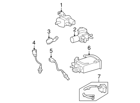 Emission Components For 2008 Toyota Tundra