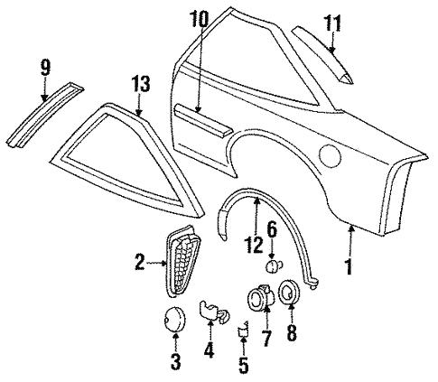 Oem 1994 Chevrolet Lumina Quarter Panel Parts