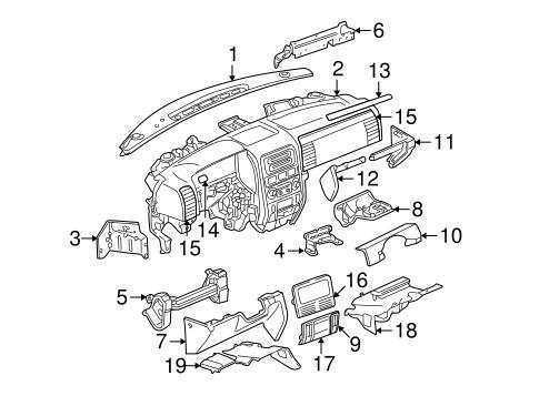 instrument panel for 2004 jeep grand cherokee parts wermopar wer mopar. Black Bedroom Furniture Sets. Home Design Ideas