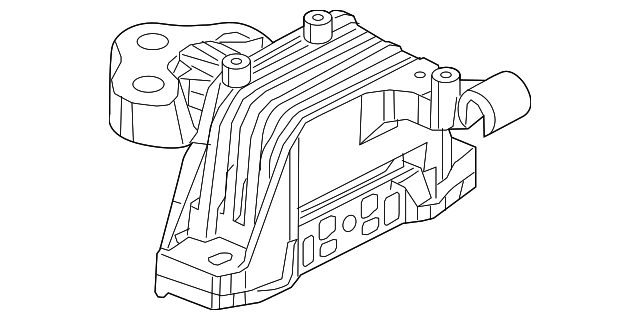 Genuine Chrysler 68164710AD Body Transmission Mount Isolator