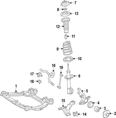FRONT SUSPENSION/FRONT SUSPENSION for 1998 Toyota Avalon #1
