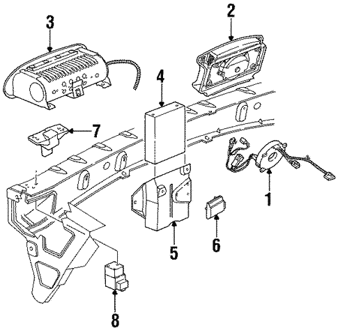 Air Bag Components For 1996 Saturn Sc1