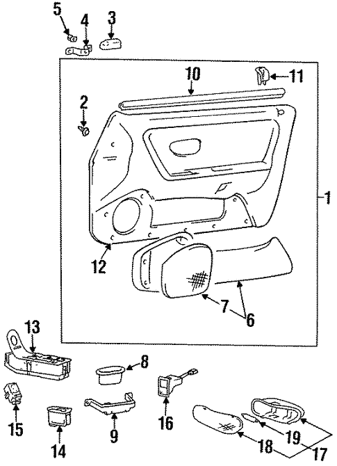 Left Genuine Hyundai 82370-34000-AQ Door Map Pocket