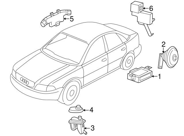 Genuine Audi 8d0 947 559