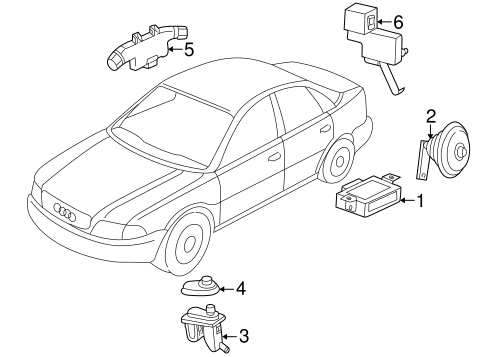Anti Theft Components For 2000 Audi S4