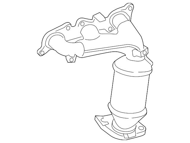 genuine toyota exhaust manifold 25052