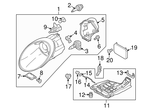 Headlamp Components For 2012 Porsche 911