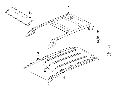 Body/Roof Rack for 2006 Ford Escape #1
