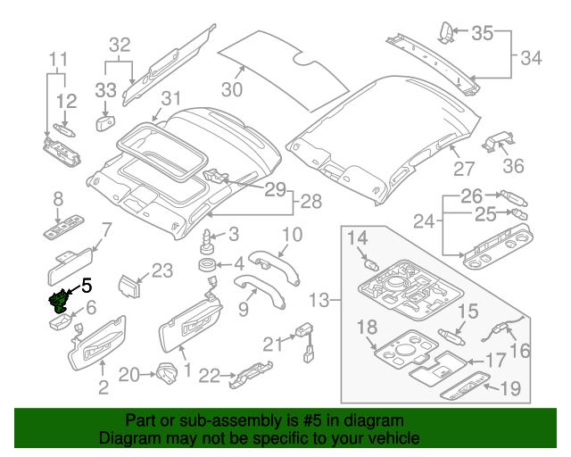 Bracket - Audi (8E0-857-562-A-8X5)  aa9ed6820e6