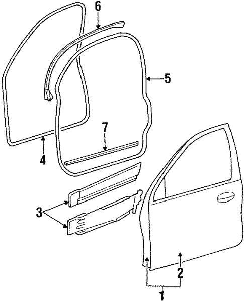 Door Components For 1997 Mercury Sable