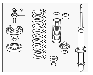 Shock Absorber Assembly, R Front - Honda (51610-TA1-A05)