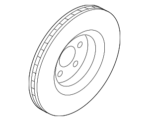 Disc Brake Rotor - Ford (K2GZ-1125-B)
