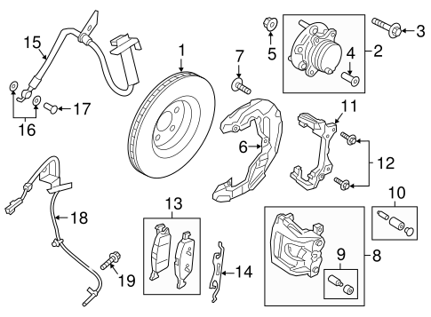 Brake Components For 2017 Lincoln Continental