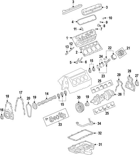 Oem 2008 Chevrolet Tahoe Engine Parts Gmpartsonline Net