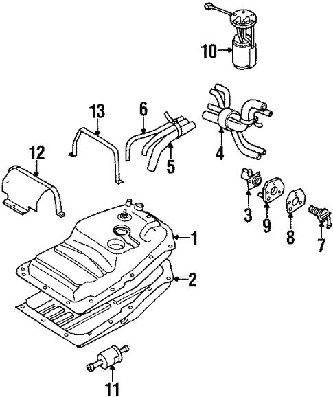 Fuel System Components For 2002 Isuzu Rodeo Sport
