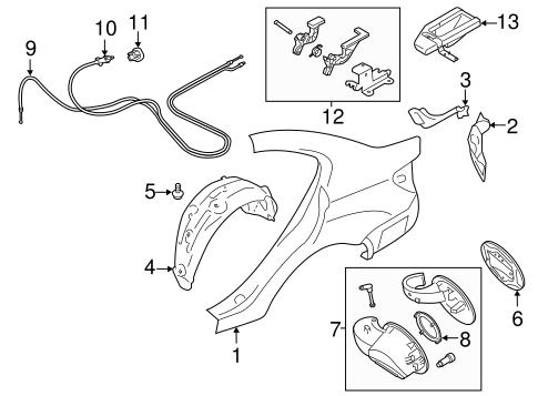 Quarter Panel Components For 2017 Subaru Impreza