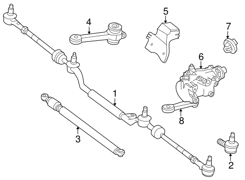 Steering Gear & Linkage for 1995 Mercedes-Benz C 280 #0