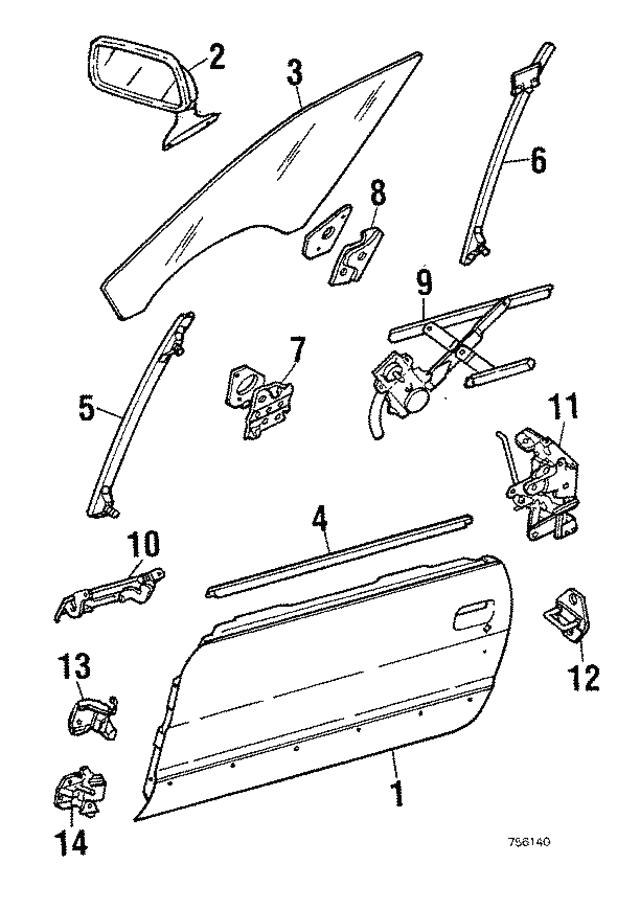 handle outside subaru 760162070 world oem parts subaru 1988 Subaru GL Wagon handle outside subaru 760162070