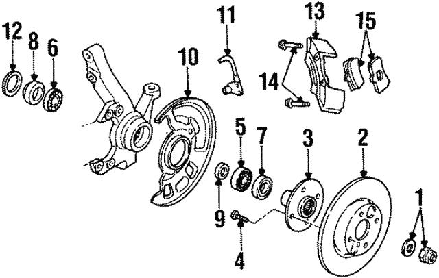 1991 2002 Ford Rotor Ys4z 1v125 Da