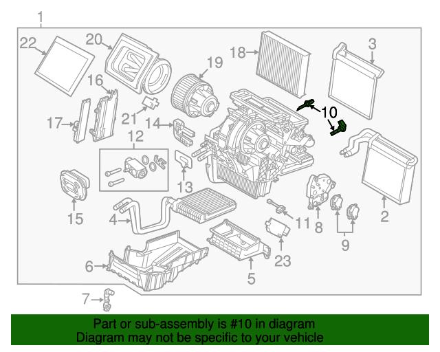 FORD OEM Temperature-In-Car Interior Temperature Sensor CV6Z19C734B